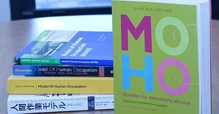 Moho books on a table
